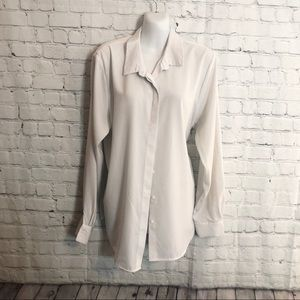 H&M Button Down White Blouse Size: 12